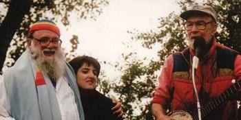 Pete Seeger, Shoshana Waskow, & Reb Arthur, Hoshana Rabbah 1998, to heal Hudson River and demand General Electric cleanse it from PCBs GE Dumped in it