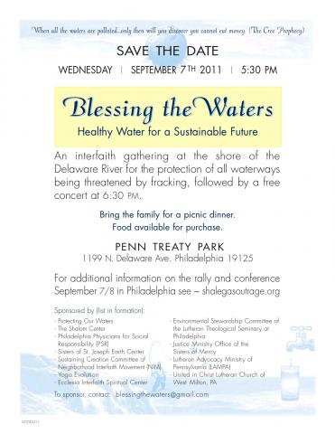 Poster for Blessing the Waters