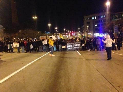 """Ferguson""  protest closees major highway in Baltimore"