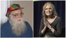 photos of Arthur Waskow and Gloria Steinem