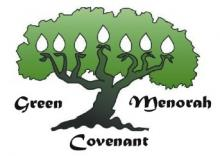 Green Menorah Covenant symbol -- se The Shalom Center