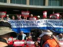 Sit-in to oppose Tar Sands Pipeline, State Dept, 8/12/13