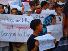 Pro-peace, anti-violence, pro-islam demonstration in Libya