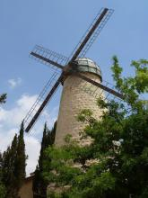 Montefiore Windmill outside the Old City of Jerusalem