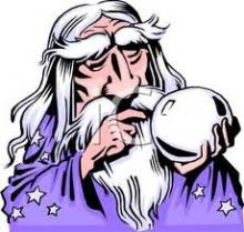 Reporter for Dissociated Press: Wizard with crystal ball