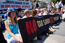 Photo of Tar Sands Protest at the White House gates